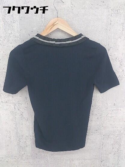 ◇ TO BE CHIC トゥービーシック 五分袖 ニット セーター サイズⅡ ネイビー レディース_画像2