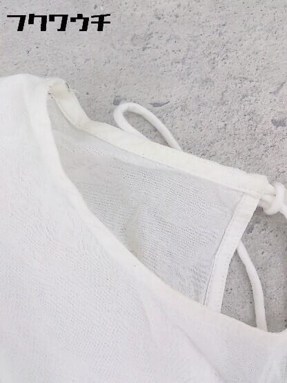◇ zara basic ザラ ベーシック 刺繍 七分袖 ブラウス サイズEUR M USA M MEX 28 オフホワイト系 レディース_画像6