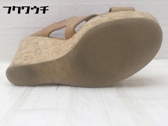 ◇ FABIO RUSCONI ファビオ ルスコーニ ウェッジソール サンダル (24cm相当) ブラウン レディース_画像4