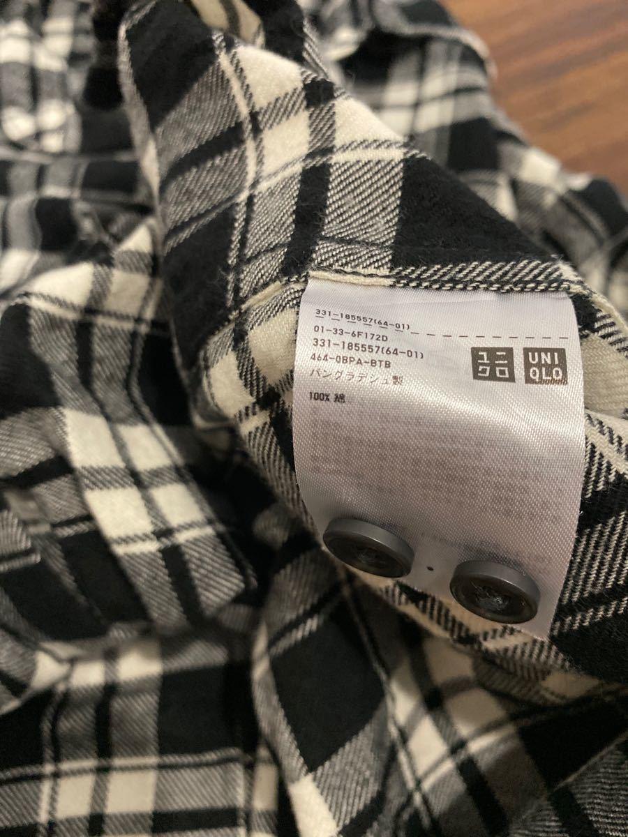 ユニクロ 長袖シャツ チェックシャツ チェック柄