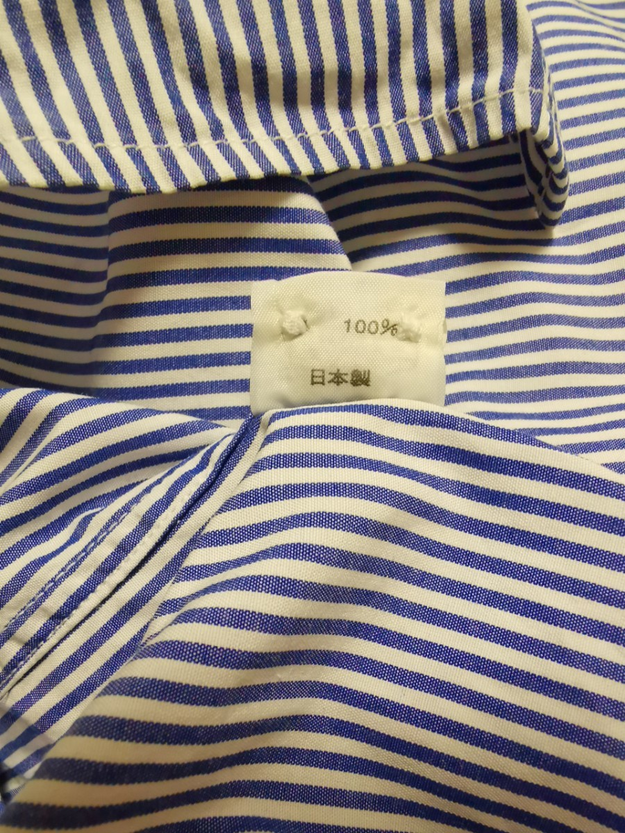 H069 SLICK 切り替えストライプシャツ