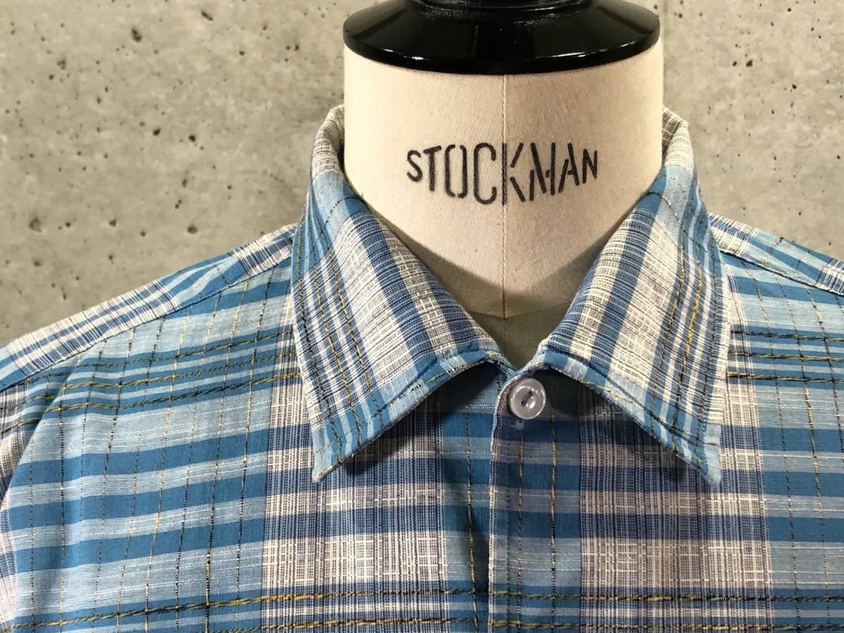 希少《 Dead Stock / 素晴らしい生地 》50s 60s デッド【 Mcgregor ビンテージ イタリアンカラー コットン シャツ M アメリカ製 】_画像2