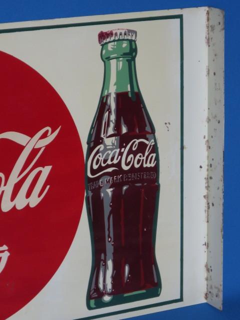#9-5【日本Coca・Cola】コカ・コーラ看板*当時もの・裏表のタイプ*中古品_画像10