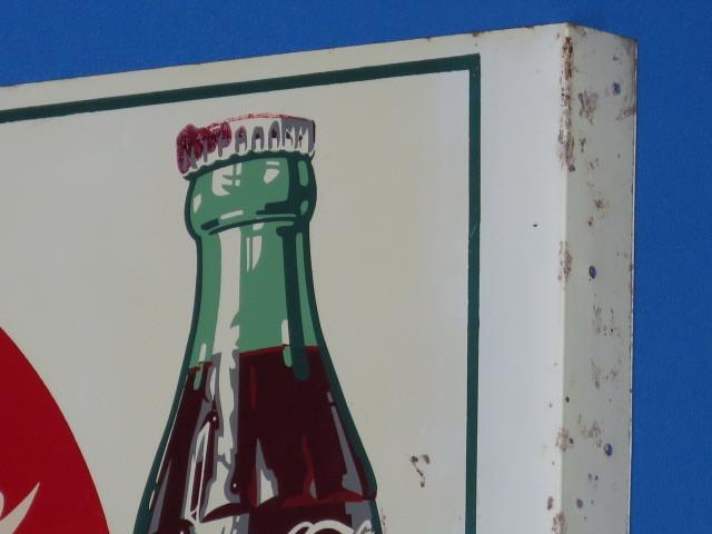 #9-5【日本Coca・Cola】コカ・コーラ看板*当時もの・裏表のタイプ*中古品_画像9