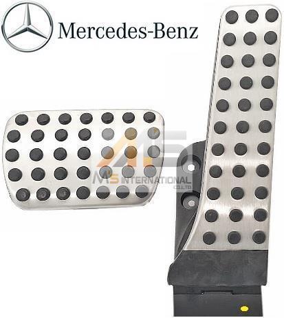 【M's】ベンツ AMG W222 W217 Sクラス / X253 GLCクラス 純正品 アルミ ペダルセット 2点//メルセデス 正規品 000-290-0500 0002900500_画像1