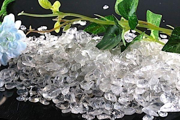 【送料無料】たっぷり 500g さざれ 小サイズ ヒマラヤ 水晶 クオーツ パワーストーン 天然石 ブレスレット 浄化用 さざれ石 チップ ※5_画像3