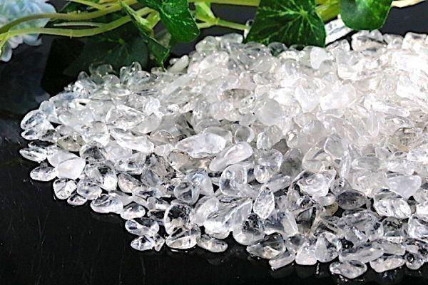 【送料無料】たっぷり 500g さざれ 小サイズ ヒマラヤ 水晶 クオーツ パワーストーン 天然石 ブレスレット 浄化用 さざれ石 チップ ※5_画像2