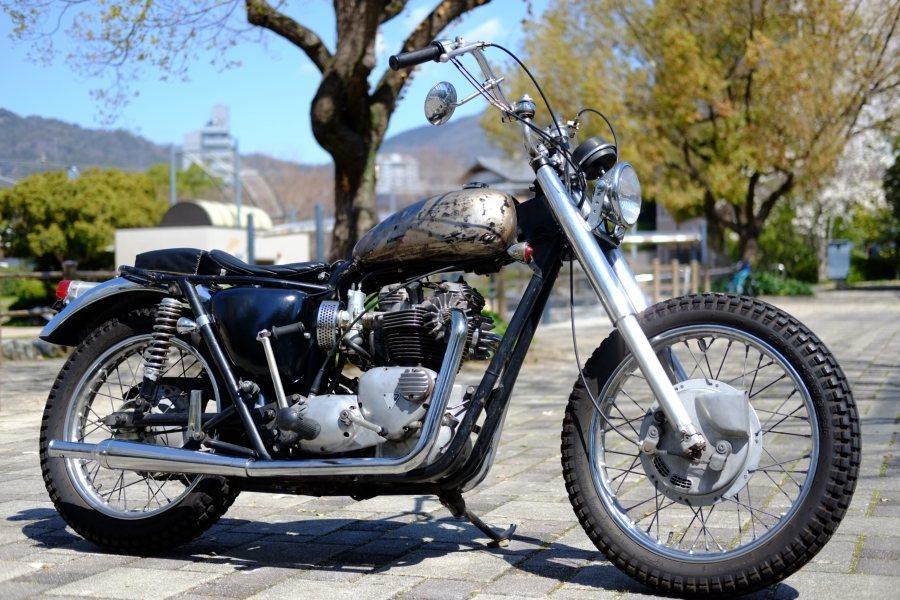 トライアンフ '72 T120 650cc ヴィンテージスクランブラー ローン可 (検索)ワッセル BATES フランダース 650最終型_画像1