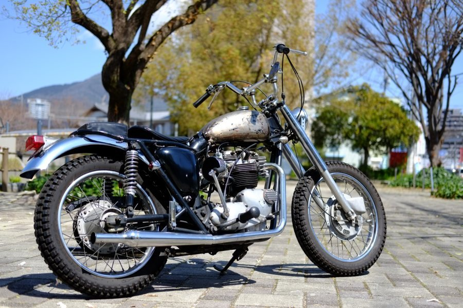 トライアンフ '72 T120 650cc ヴィンテージスクランブラー ローン可 (検索)ワッセル BATES フランダース 650最終型_画像2