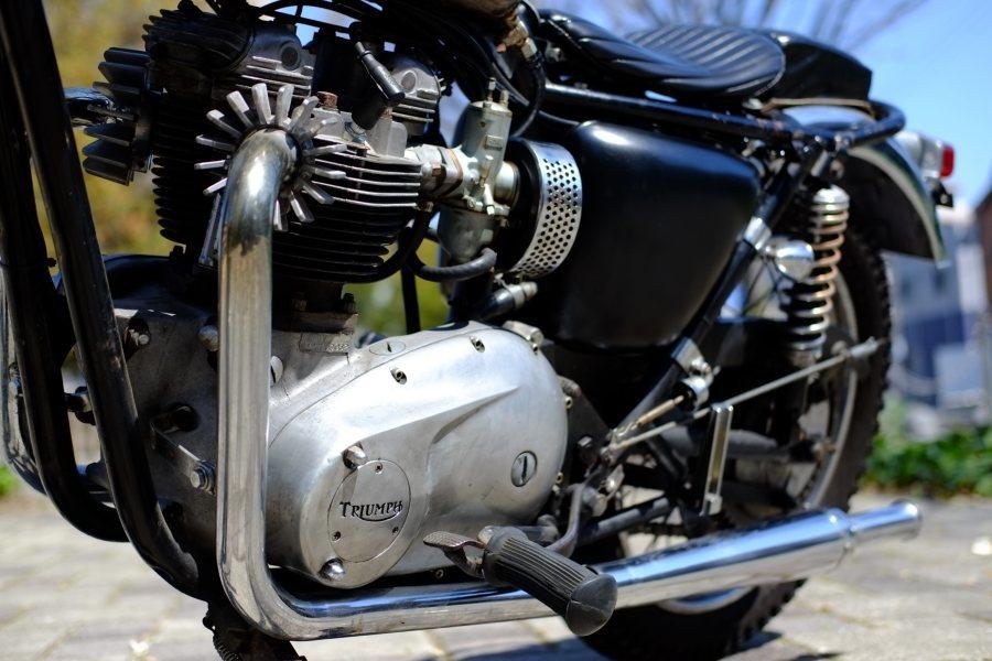 トライアンフ '72 T120 650cc ヴィンテージスクランブラー ローン可 (検索)ワッセル BATES フランダース 650最終型_画像4