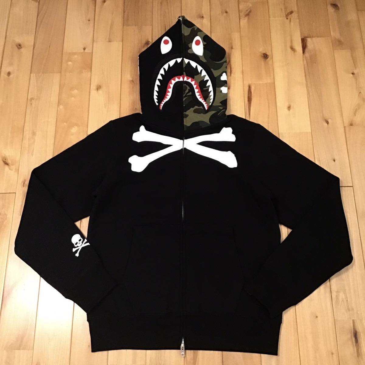 ★香港限定★ mastermind vs BAPE シャークパーカー Sサイズ shark full zip hoodie hong kong mmj a bathing ape マスターマインド ベイプ_画像1