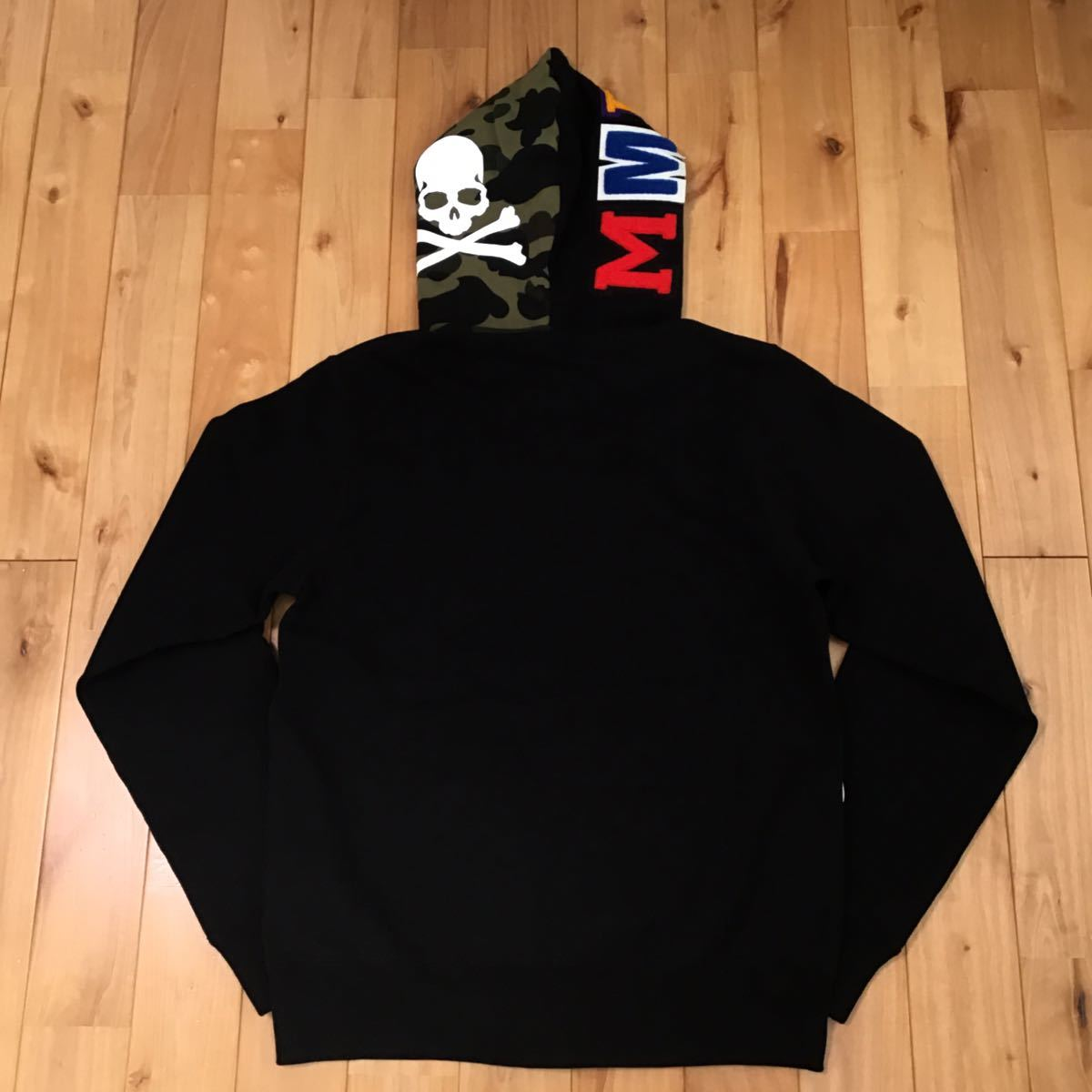 ★香港限定★ mastermind vs BAPE シャークパーカー Sサイズ shark full zip hoodie hong kong mmj a bathing ape マスターマインド ベイプ_画像5