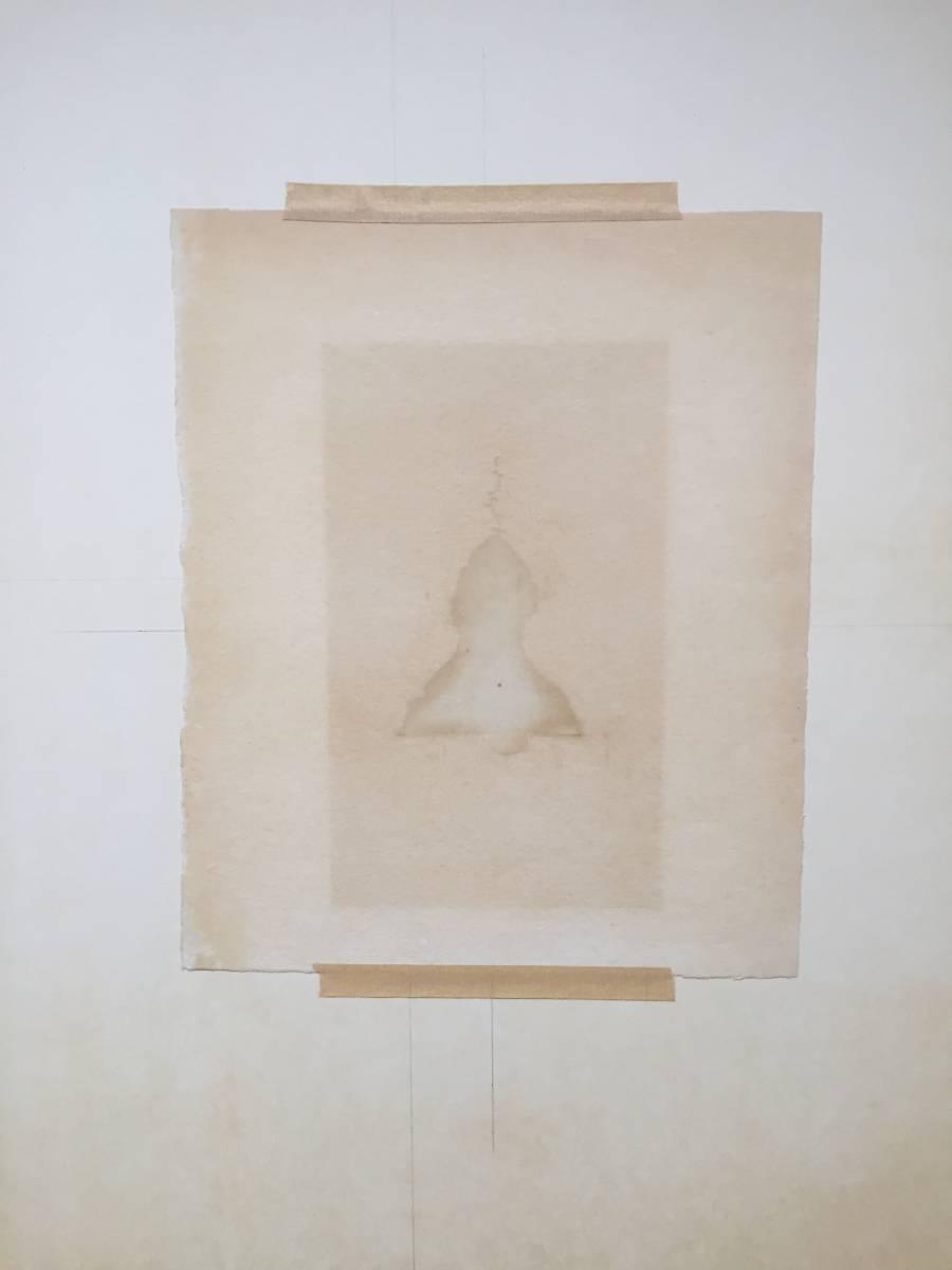 日和崎 尊夫 『凝視』 木口木版  1970年 サイン有 レゾネNo.302  版画集「薔薇刑」より  額装 【真作保証】_画像6