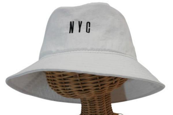 sin04☆ 新品 【撥水加工/サファリハット・NYC】白 男女兼用 ゴルフ 釣り 海 自転車 アウトドア BBQ フェス 帽子 紫外線対策 日除け_画像1
