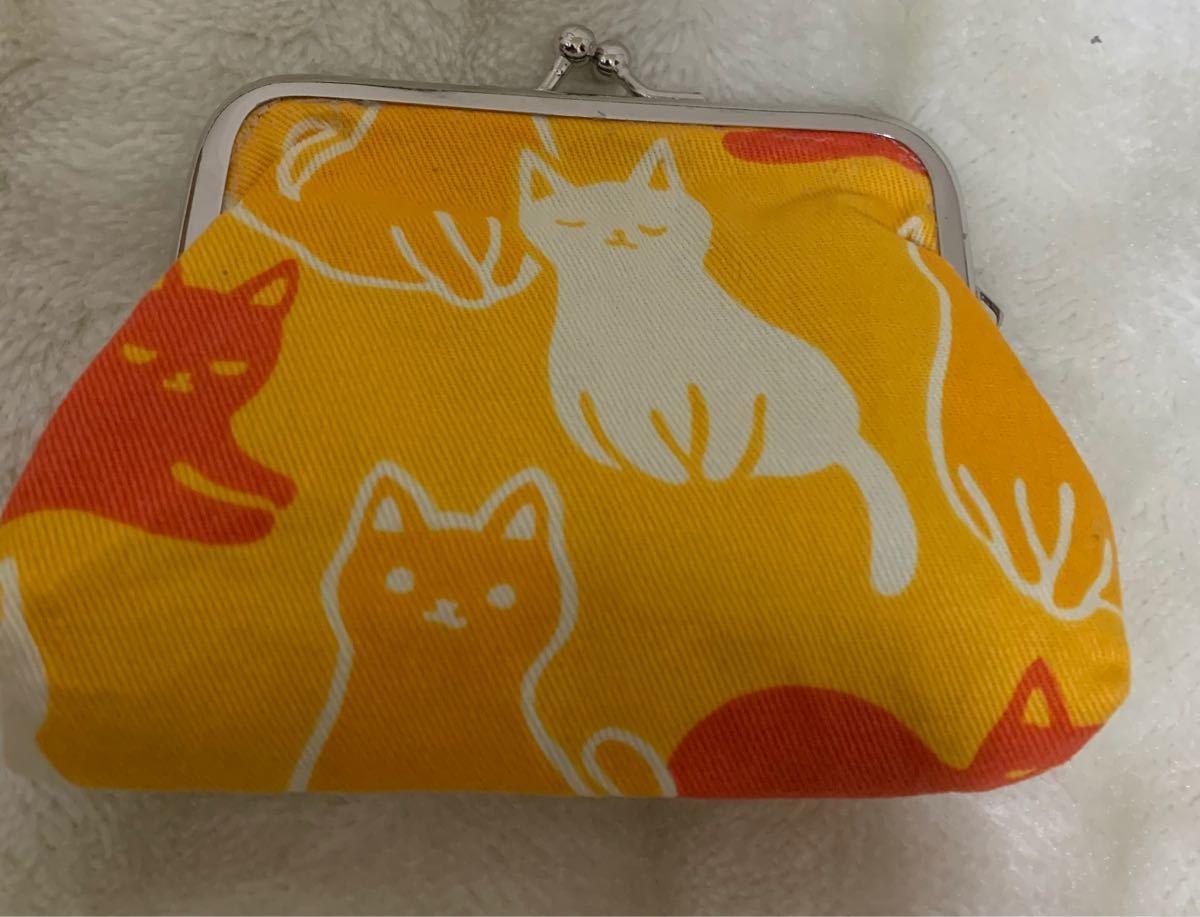 猫柄 がま口財布 ハンドメイド