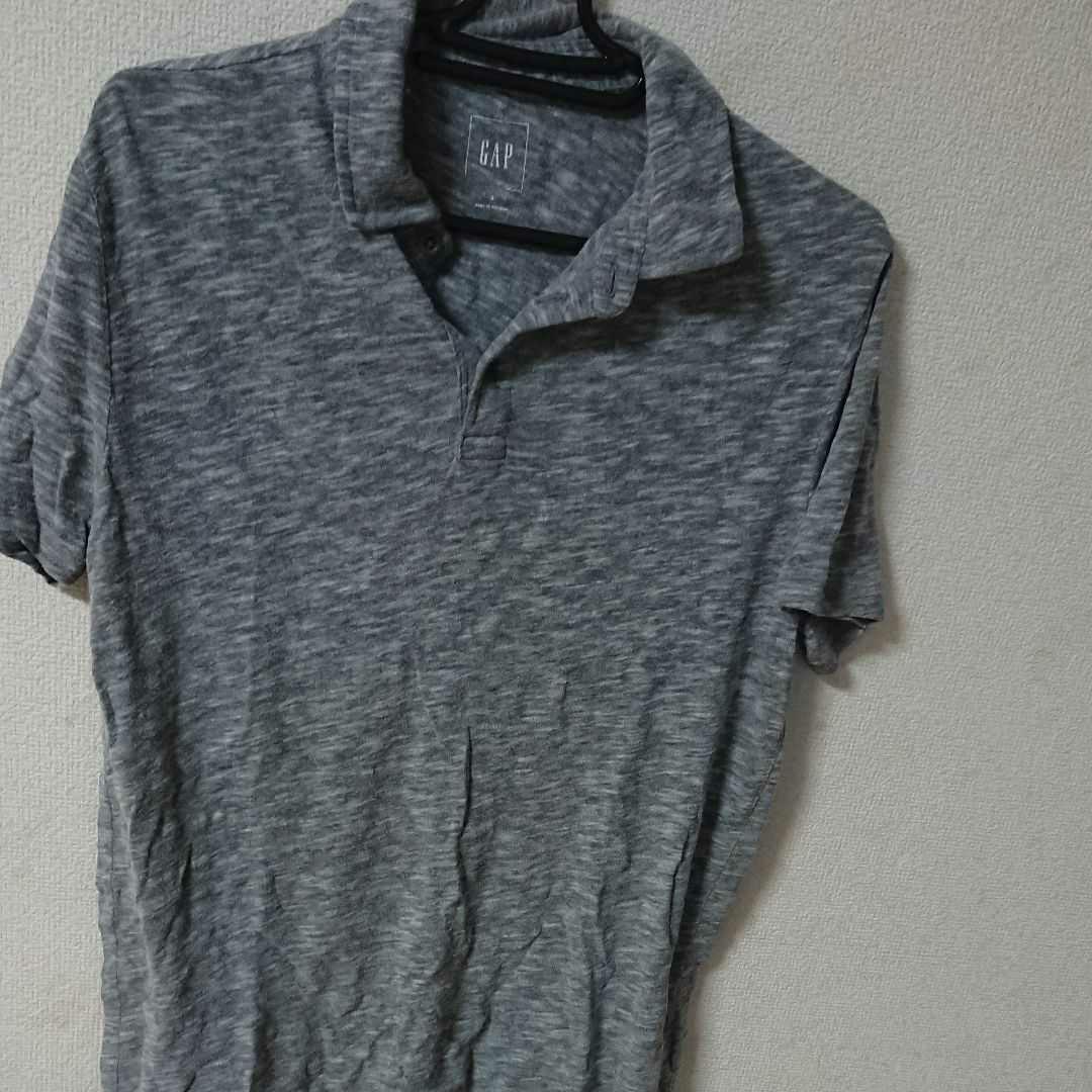 ポロシャツ GAP ネルシャツ 半袖 S