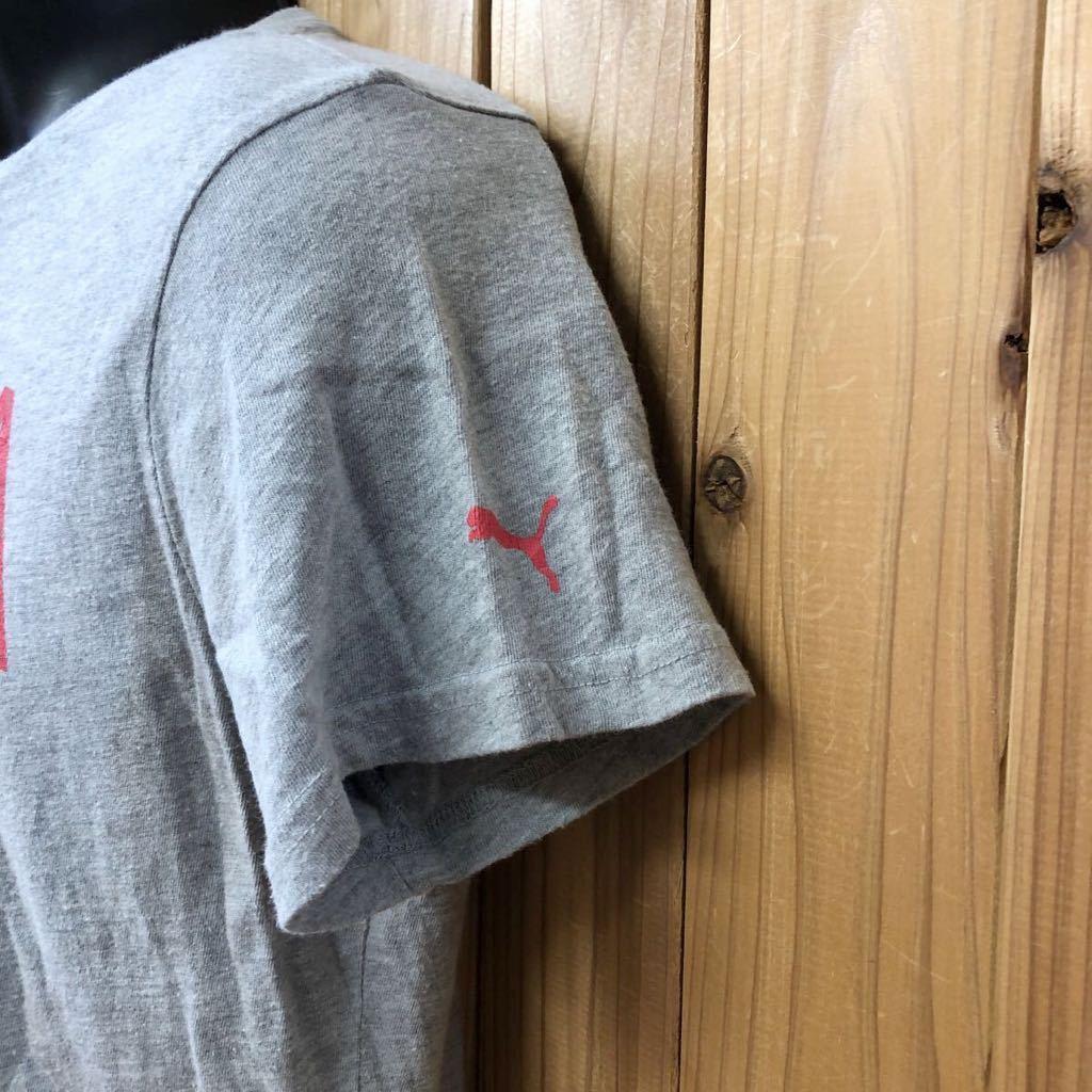 【puma】プーマ / メンズ USサイズ XL グレー 半袖Tシャツ プリント トップス シンプル カジュアル スポーツウエア USA古着_画像4