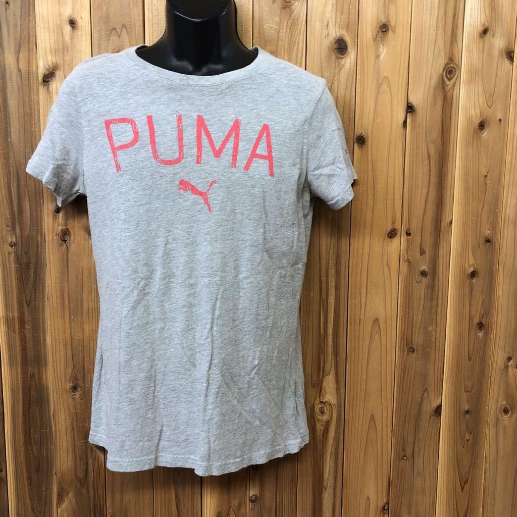 【puma】プーマ / メンズ USサイズ XL グレー 半袖Tシャツ プリント トップス シンプル カジュアル スポーツウエア USA古着_画像1