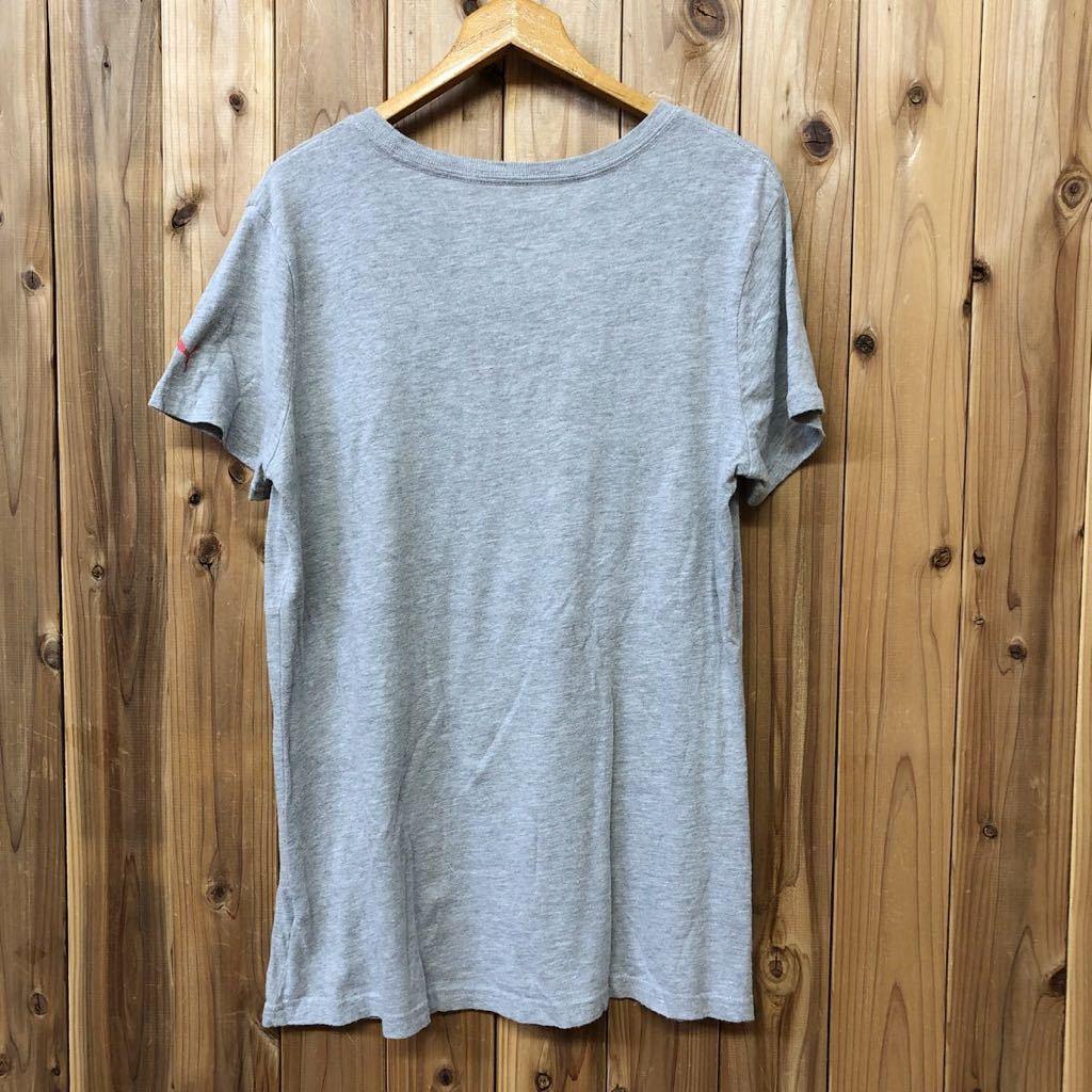 【puma】プーマ / メンズ USサイズ XL グレー 半袖Tシャツ プリント トップス シンプル カジュアル スポーツウエア USA古着_画像5