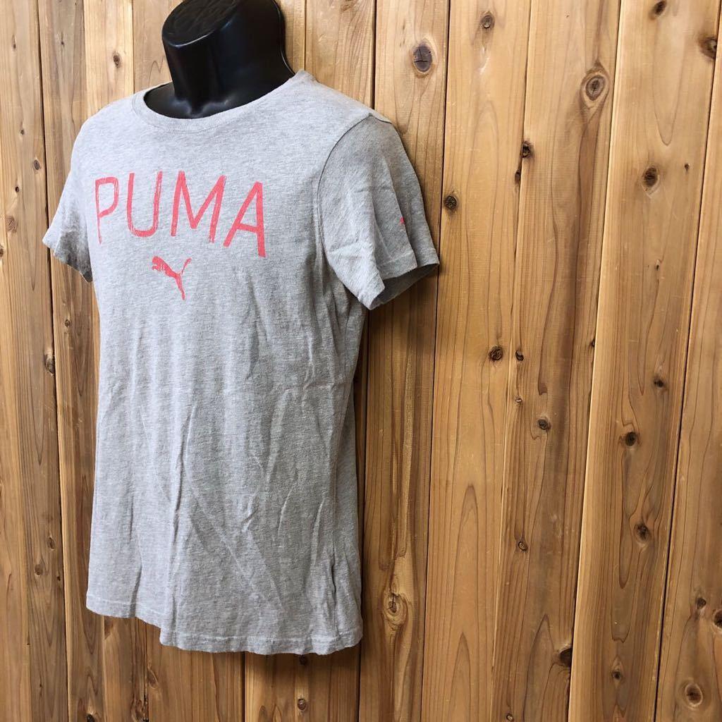 【puma】プーマ / メンズ USサイズ XL グレー 半袖Tシャツ プリント トップス シンプル カジュアル スポーツウエア USA古着_画像2