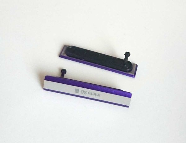 送料無料 xperia z2 紫 microSD側キャップ so-03f パープル