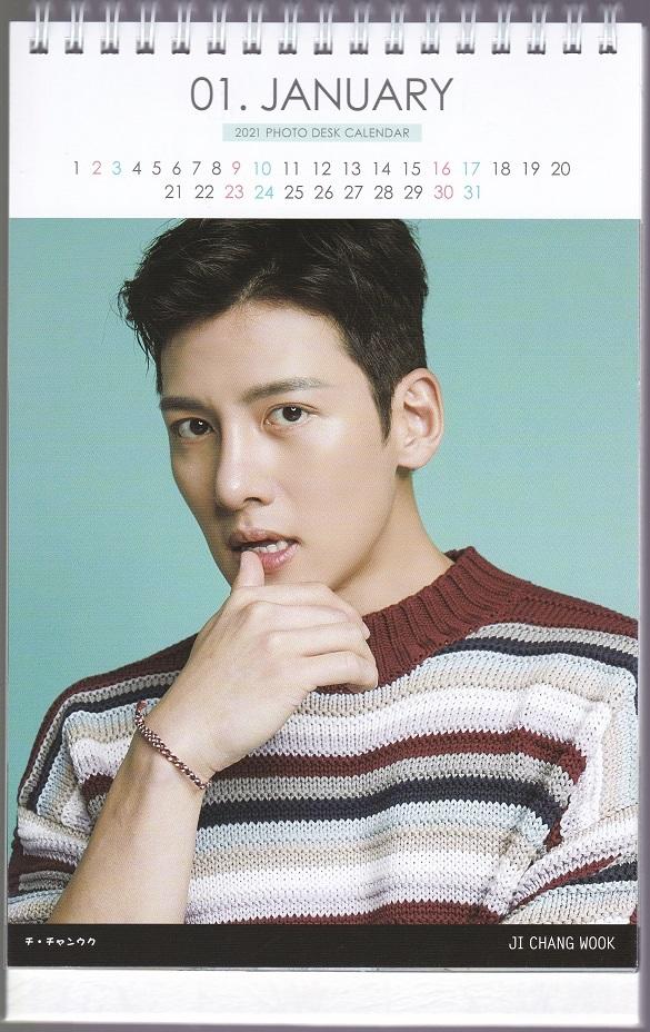 ☆New!■チ・チャンウク■2021-22年度ホワイト卓上カレンダー☆韓国_画像2