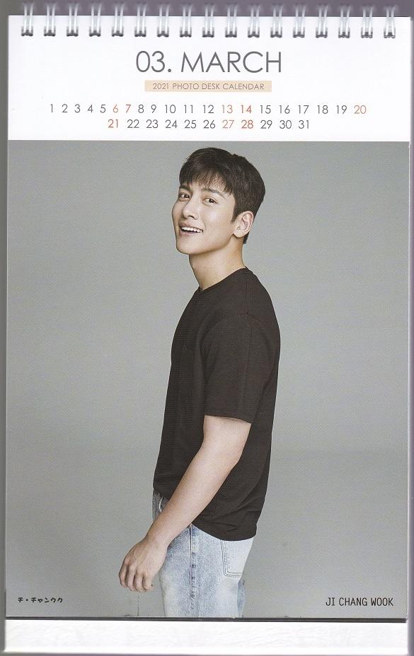 ☆New!■チ・チャンウク■2021-22年度ホワイト卓上カレンダー☆韓国_画像3