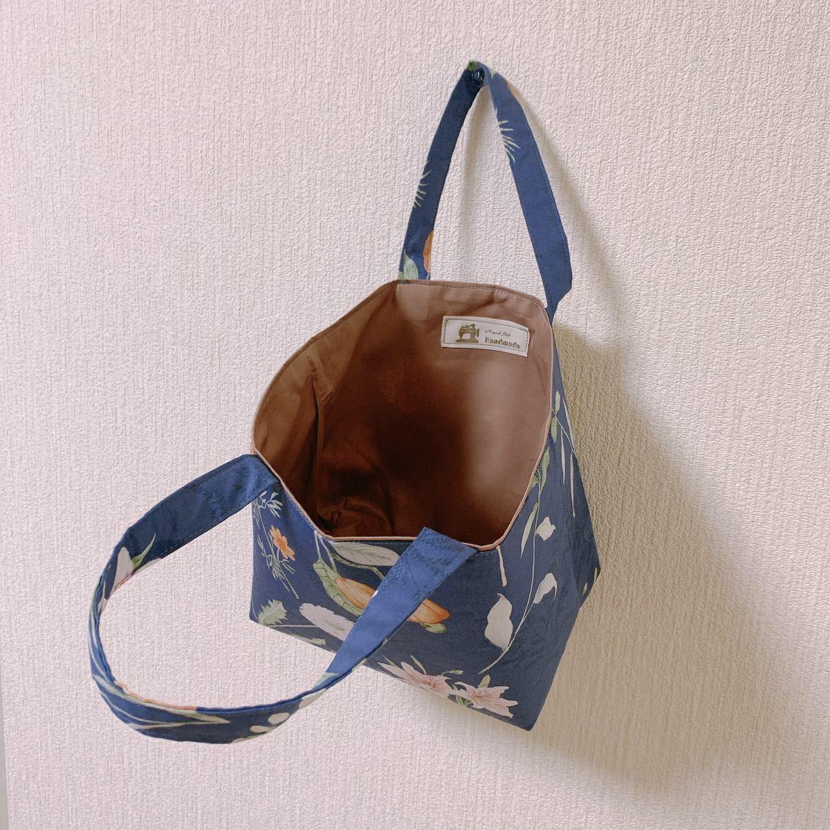 ハンドメイド トートバッグ ランチボックス お弁当袋 ミニバッグ 鞄 レディース