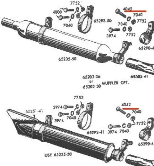 NOS CP1038 ハーレー 純正 ビンテージ シート Tバー マフラー ボルト オリジナル ナックル パン ショベル チョッパー デッドストック WL _画像4