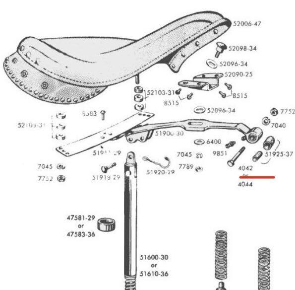 NOS CP1038 ハーレー 純正 ビンテージ シート Tバー マフラー ボルト オリジナル ナックル パン ショベル チョッパー デッドストック WL _画像3