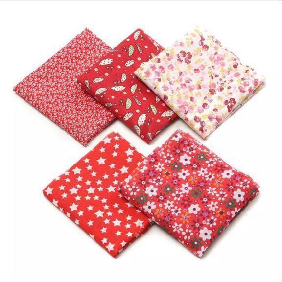 送料無料 ハンドメイド 生地 5枚セット 50×50 綿 はぎれ ハギレ お買い得 パッチワーク 裁縫 5種類