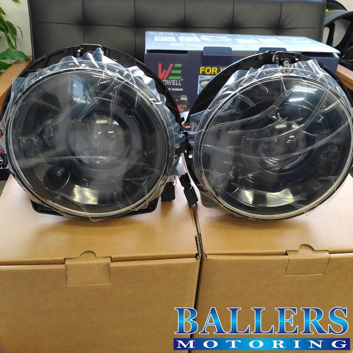 HOWELL / ハウエル製 BENZ ベンツ W463 Gクラス ゲレンデ 前期用 後期 LOOK プロジェクター ヘッドライト H7 ハロゲン インナーブラック_画像1