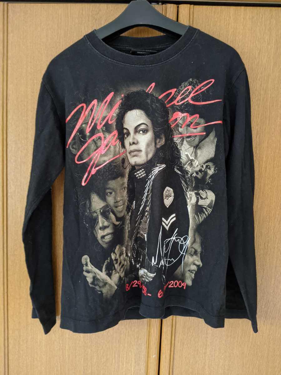 マイケル・ジャクソン 長袖Tシャツ Sサイズ 黒色 即決 ブラック KING OF POP MICHAEL JACKSON _画像1