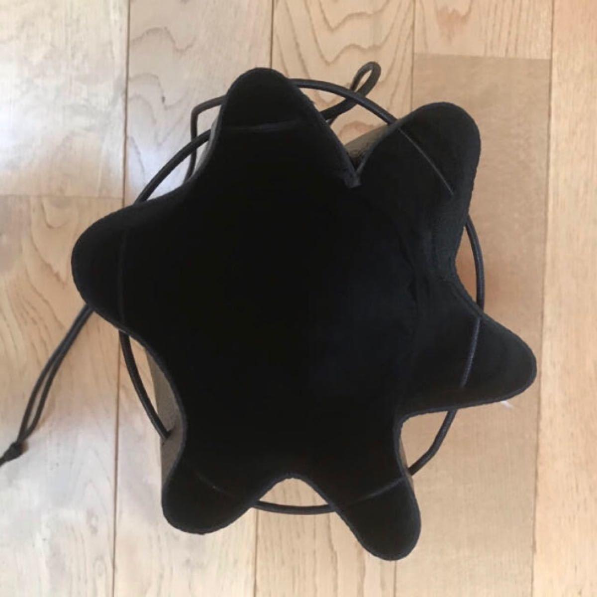 ハンドメイド 本革レザー人気2way巾着バッグ