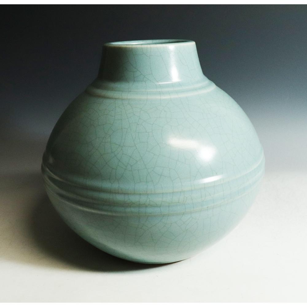 中島宏(人間國寶)作*青瓷壺