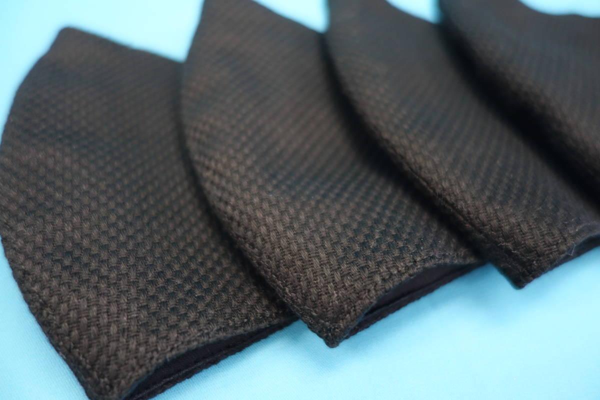 ◆黒 本刺子 ◆真っ黒 ◆マスク用ゴム黒 ◆綿100% ◆シンプル ◆手作り ◆使い捨てマスク節約 ◆マスクカバー ◆インナー ◆カッコイイ_画像3