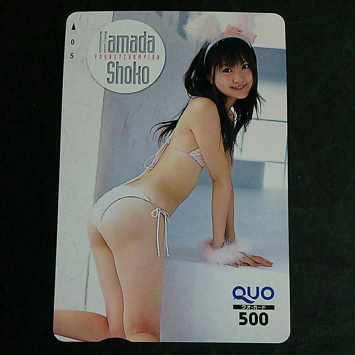 浜田翔子 レア セクシー 水着 クオカード QUOカード クオカ 非売品 未使用 グラビア アイドル テレカ、図書カードではないです ④_画像2