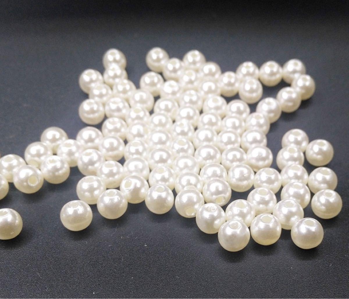 ビーズ アクセサリー ハンドメイド パーツ ホワイト 5mm 約540個 30g