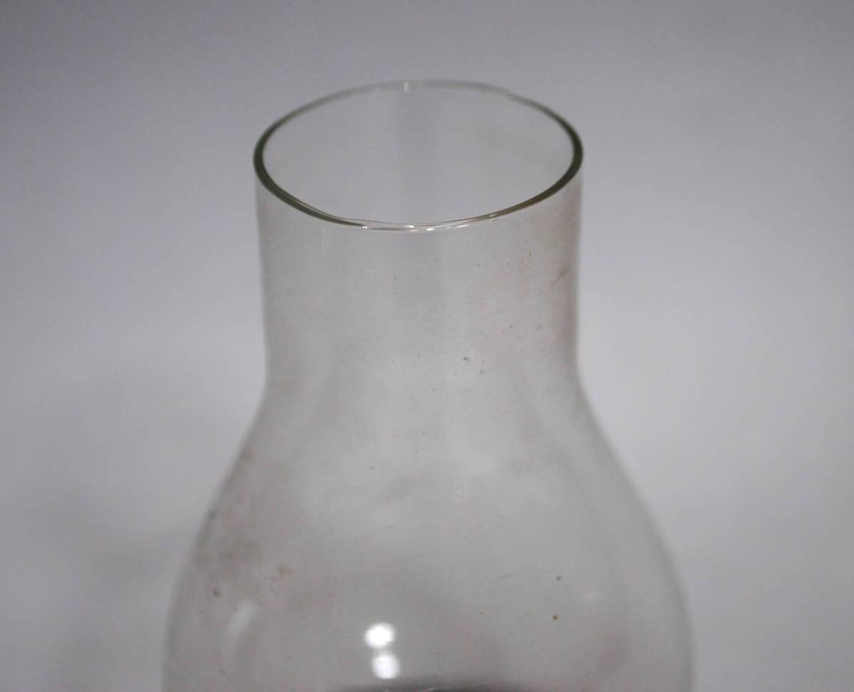 【売切り屋】ホヤガラス 3点 D 大中小 ホヤのみ /アルコールランプ 卓上ランプ 古いオイルランプ アンティーク らっきょうホヤ 豆ランプ_画像8