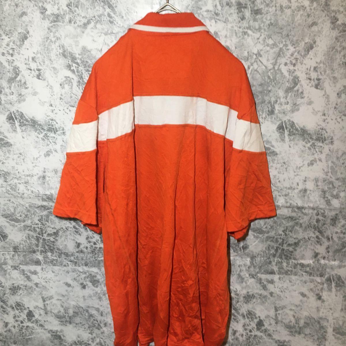 【最終価格】アディダス adidas ポロシャツ XL オレンジ ビッグ