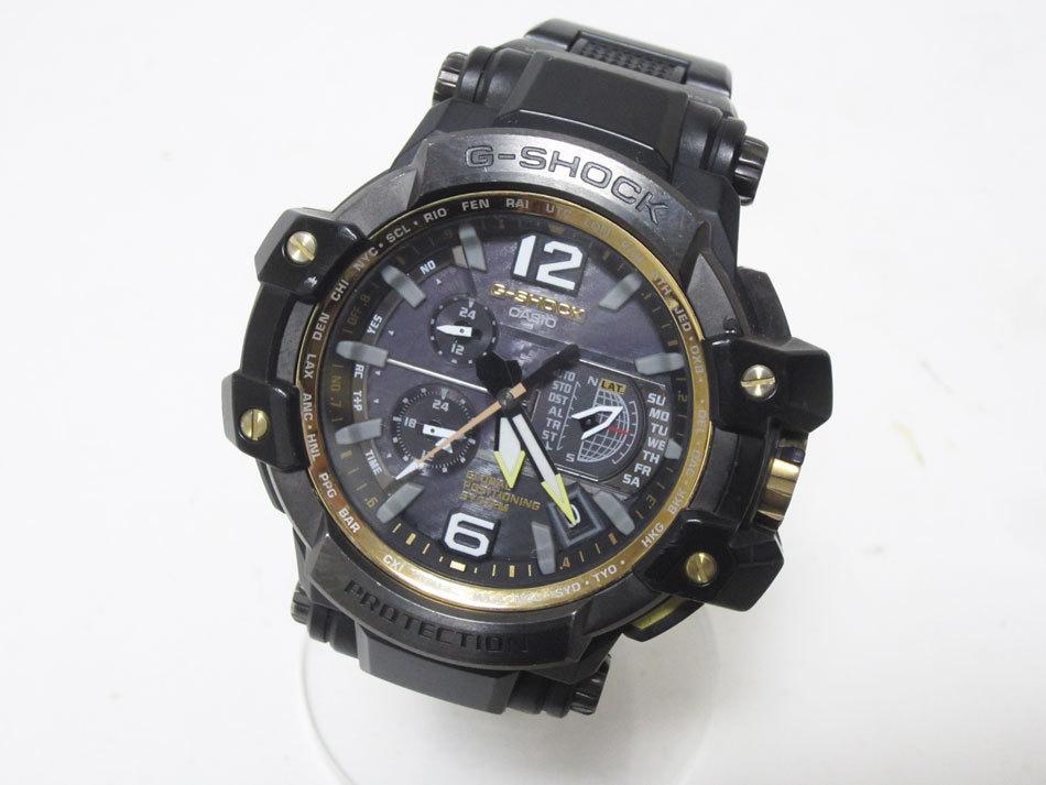 送料無料 CASIO カシオ G-SHOCK Gショック 腕時計 マスターオブG グラビティマスター GPSハイブリッド 電波 ゴールド GPW-1000FC-1A9JF_画像1