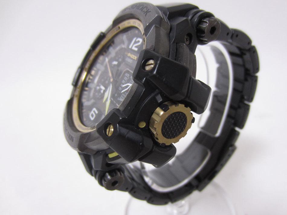 送料無料 CASIO カシオ G-SHOCK Gショック 腕時計 マスターオブG グラビティマスター GPSハイブリッド 電波 ゴールド GPW-1000FC-1A9JF_画像2