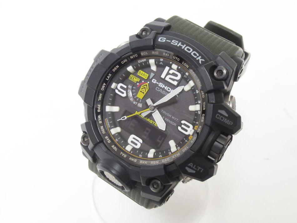 美品 送料無料 CASIO カシオ MUDMASTER マッドマスター タフソーラー 電波 腕時計 メンズウォッチ GWG-1000-1A3JF_画像1