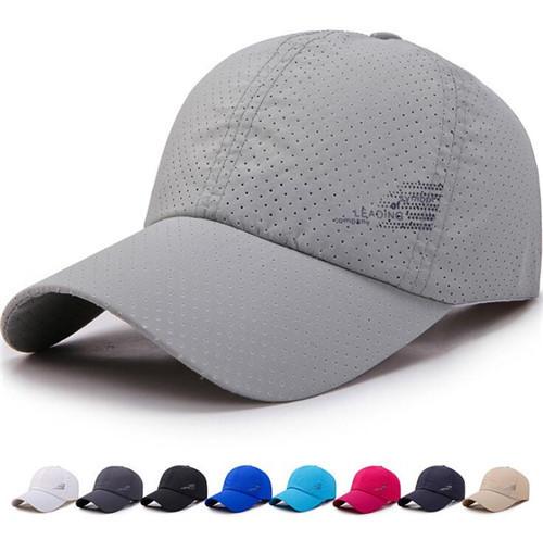 メッシュキャップ 帽子 メンズ 通気性抜群 日除け UVカットスポーツ帽子男女兼用 速乾 軽薄 登山 釣り ゴルフ 運転 グレー_画像2