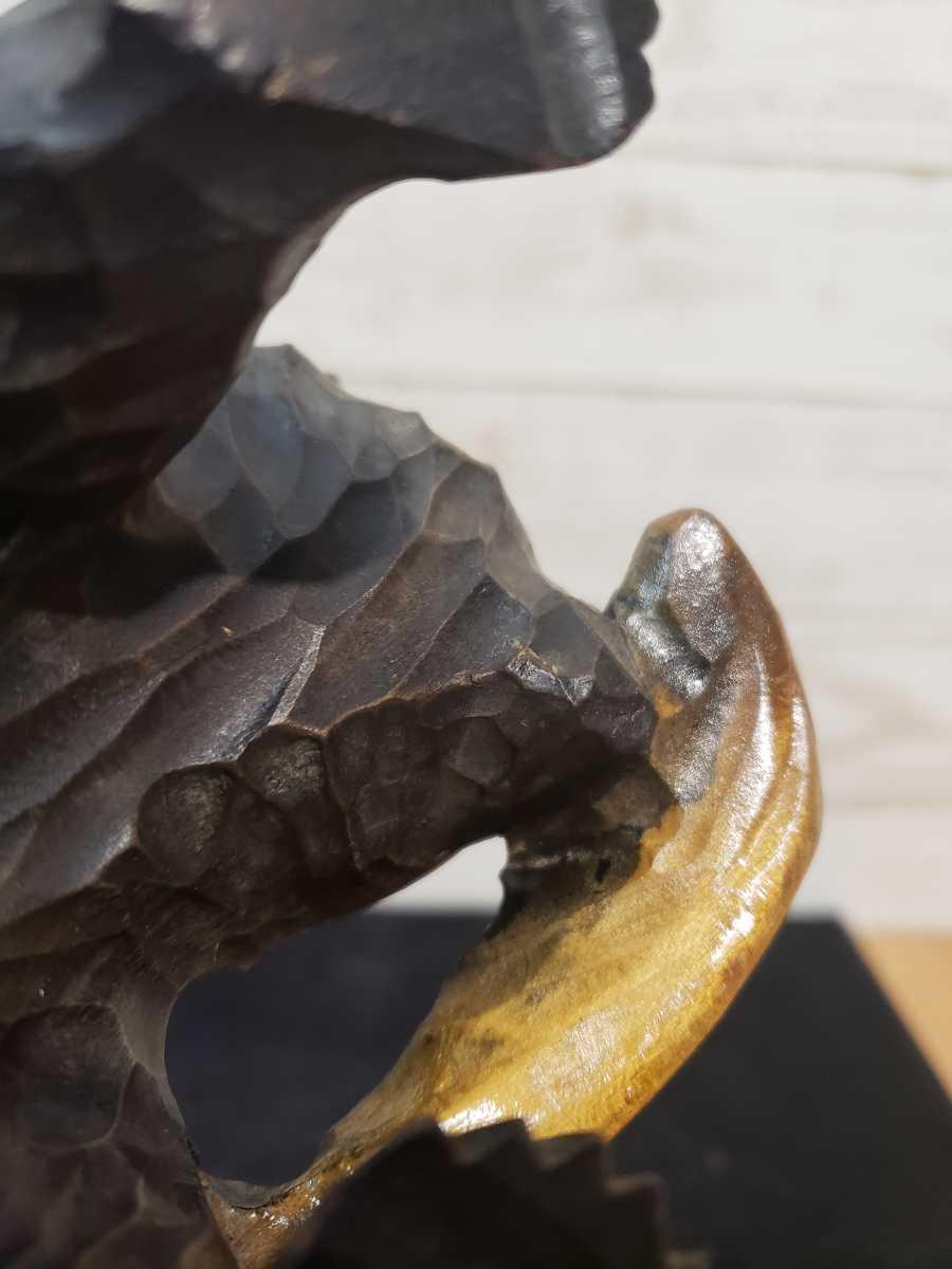 北海道 木彫りの熊 木彫 彫刻 民芸品 お土産 台座無し _画像7