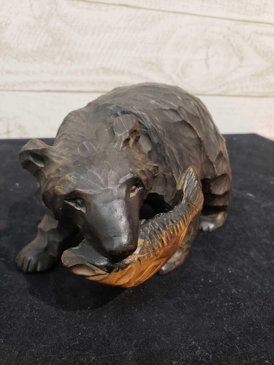 北海道 木彫りの熊 木彫 彫刻 民芸品 お土産 台座無し _画像2