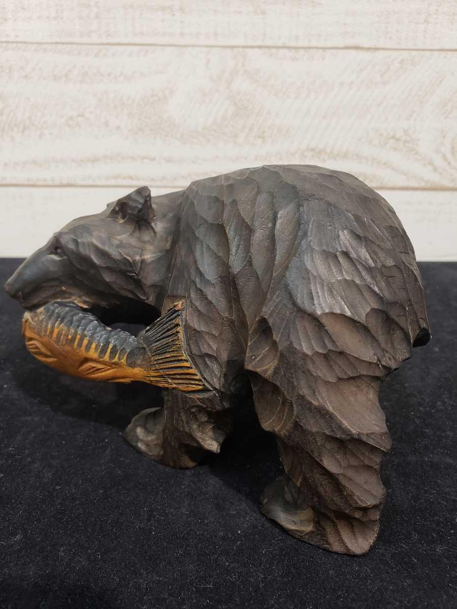 北海道 木彫りの熊 木彫 彫刻 民芸品 お土産 台座無し _画像3