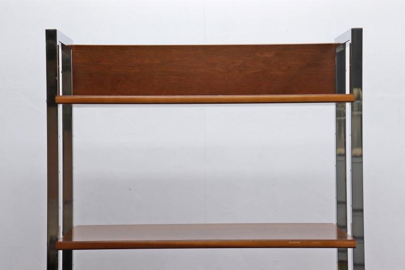 ◆ウォールナット モダン オープンシェルフ 飾り棚 本棚 食器棚 収納 2/ミッドセンチュリーインダストリアルヴィンテージ/JGT07020◆_画像4