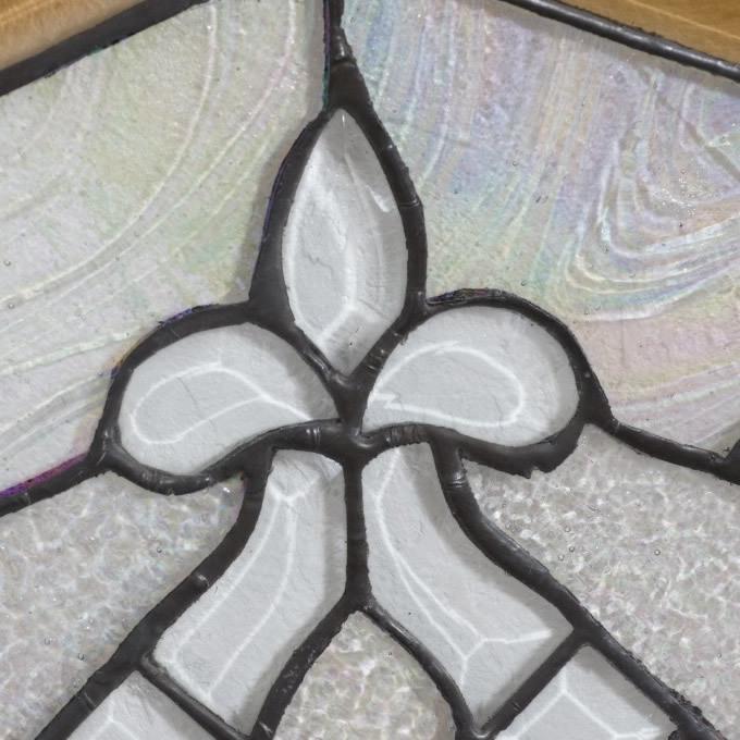 【USED品 】34.5cm×34.5cm ステンドグラス アンテーク アートパネル  _画像7