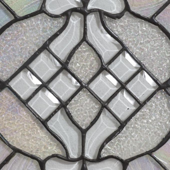 【USED品 】34.5cm×34.5cm ステンドグラス アンテーク アートパネル  _画像2